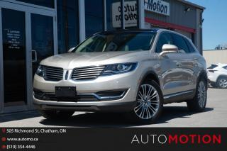 Used 2017 Lincoln MKX Reserve for sale in Chatham, ON
