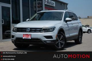 Used 2018 Volkswagen Tiguan Highline EXCELLENT SHAPE NO ACCIDENT REMOTE START for sale in Chatham, ON