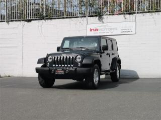 Used 2017 Jeep Wrangler Unlimited SPORT - LOW KMS, BC ONLY REGISTERED for sale in Victoria, BC