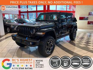 New 2021 Jeep Wrangler 4xe Rubicon 4Xe Soft Top for sale in Richmond, BC