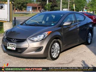 Used 2012 Hyundai Elantra GL|LOW KM|BLUETOOTH|HEATED SEATS|CERTIFIED for sale in Oakville, ON