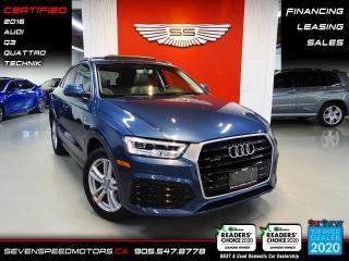 Used 2016 Audi Q3 TECHNIK   ACCIDENT FREE   CERTIFIED   FINANCE   9055478778 for sale in Oakville, ON