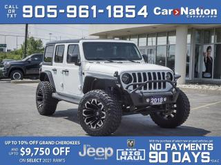 Used 2018 Jeep Wrangler Unlimited Sahara 4x4| LIFTED| UPGRADED RIMS & TIRES| LEATHER for sale in Burlington, ON