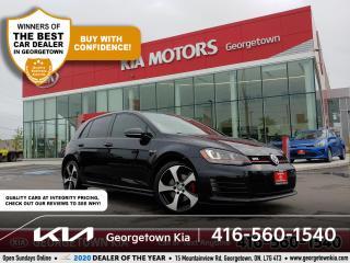 Used 2015 Volkswagen Golf GTI AUTOBAHN | CLN CRFX | LTHR| NAV| SUNROOF| BT| AUTO for sale in Georgetown, ON