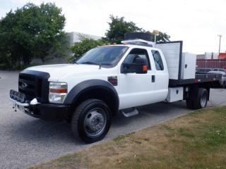 Used 2009 Ford F-550 Dumping Flat Deck 12 foot SuperCab 4WD Dually Diesel for sale in Burnaby, BC