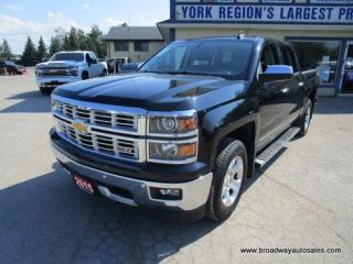 Used 2015 Chevrolet Silverado 1500 GREAT SHAPE LTZ-EDITION 5 PASSENGER 5.3L - V8.. 4X4.. CREW-CAB.. SHORTY.. NAVIGATION.. LEATHER.. HEATED/AC SEATS.. BACK-UP CAMERA.. POWER PEDALS.. for sale in Bradford, ON