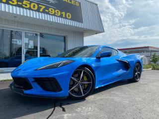 Used 2021 Chevrolet Corvette Stingray 2021 Corvette Z51 Performance Package!!! Rapid Blue!! Gorgeous Car!! for sale in Kingston, ON