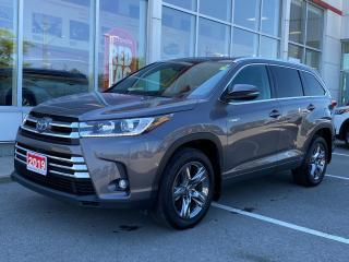 Used 2019 Toyota Highlander HYBRID Limited LIMITED-COOLED SEATS+PANORAMIC SUNROOF+MORE! for sale in Cobourg, ON