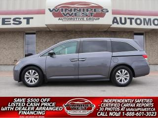 Used 2015 Honda Odyssey EX-L, LEATHER, DVD, SUNROOF, CLEAN, GREAT VALUE!! for sale in Headingley, MB