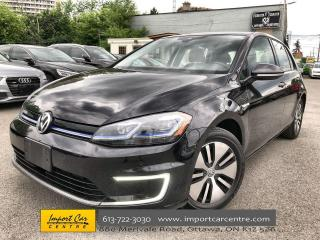 Used 2018 Volkswagen Golf e-Golf Comfortline LEATHER  NAVI  ADAPTIVE CRUISE  HTD SE for sale in Ottawa, ON