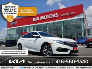 Used 2017 Honda Civic Sedan LX | CLN CARFAX| HTD SEATS| BU CAM | B/TOOTH | ECO for sale in Georgetown, ON