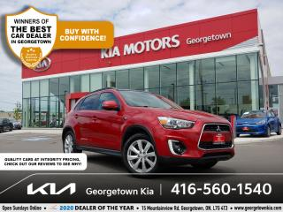 Used 2015 Mitsubishi RVR GT AWD | LEATHER | NAVI | ROOF | BU CAM | HTD SEAT for sale in Georgetown, ON