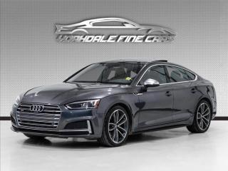 Used 2018 Audi S5 Sportback 3.0 TFSI Quattro Technik Red Interior, Loaded for sale in Concord, ON