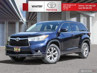 Used 2016 Toyota Highlander LE for sale in Whitby, ON