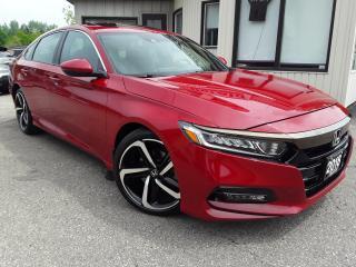 Used 2018 Honda Accord Sport CVT - BACK-UP/BLIND-SPOT CAM! SUNROOF! HONDA SENSING! for sale in Kitchener, ON