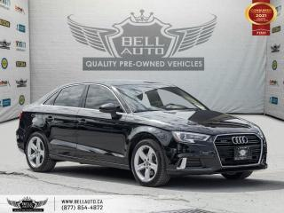 Used 2018 Audi A3 Sedan Komfort, AWD, S-LINE, REARCAM, PANO, NO ACCIDENT for sale in Toronto, ON