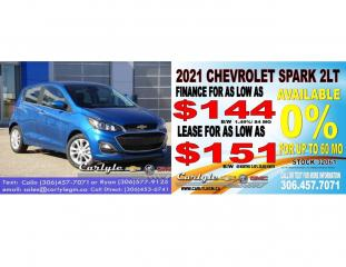 New 2021 Chevrolet Spark 2LT for sale in Carlyle, SK