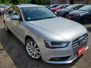 Used 2013 Audi A4 A4/QUATRO/LEATHER/ROOF/LOADED/BLUETOOTH/ALLOYS for sale in Scarborough, ON