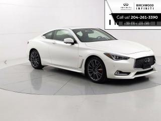Used 2017 Infiniti Q60 Red Sport 400 Technology PKG Accident Free, Remote Start, Navigation, Intelligent Cruise Control for sale in Winnipeg, MB
