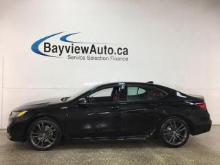 Used 2019 Acura TLX Tech A-Spec - RED LEATHER! NAV! SUNROOF! for sale in Belleville, ON