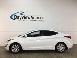 Used 2016 Hyundai Elantra GL - AUTO! A/C! PWR GROUP! for sale in Belleville, ON