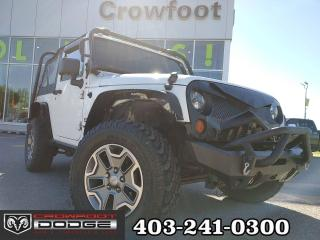 Used 2013 Jeep Wrangler SPORT WITH ROLL BAR & BUSH BAR 4X4 for sale in Calgary, AB