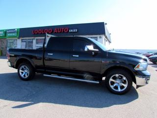 Used 2015 RAM 1500 Laramie Crew Cab Navigation Camera Diesel 4WD Certified for sale in Milton, ON