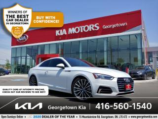 Used 2018 Audi A5 Coupe TECHNIK   1 OWNR   CLN CRFX   NAV   SUNROOF   61K for sale in Georgetown, ON
