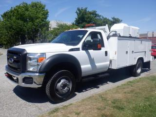 Used 2014 Ford F-550 Service Truck 3 passenger Dually  4WD With Air Compressor for sale in Burnaby, BC