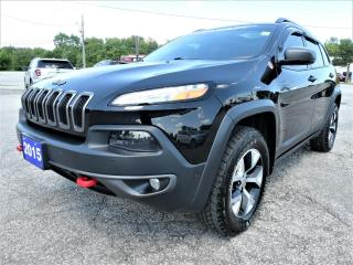 Used 2015 Jeep Cherokee Trailhawk | Blind Spot | Adaptive Cruise | Cooled Seats for sale in Essex, ON
