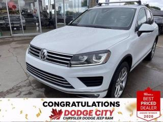 Used 2017 Volkswagen Touareg -Accident Free,Vented seats,Nav,Leather for sale in Saskatoon, SK