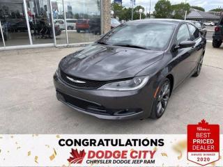 Used 2015 Chrysler 200 S- Remote Start, Htd.Seats, B/U Cam, Sunroof for sale in Saskatoon, SK