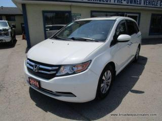 Used 2015 Honda Odyssey LOADED EX-L-EDITION 8 PASSENGER 3.5L - SOHC.. MIDDLE BENCH.. REAR STOW-AWAY SEATS.. NAVIGATION.. LEATHER.. HEATED SEATS.. DVD PLAYER.. for sale in Bradford, ON