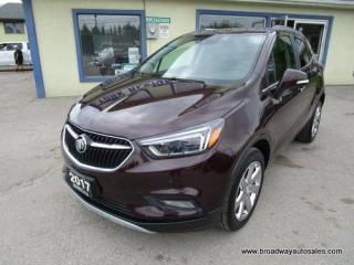 Used 2017 Buick Encore ALL-WHEEL DRIVE PREMIUM EDITION 5 PASSENGER 1.4L - TURBO.. NAVIGATION.. LEATHER.. HEATED SEATS & WHEEL.. BACK-UP CAMERA.. POWER SUNROOF.. for sale in Bradford, ON