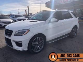 Used 2015 Mercedes-Benz ML-Class ML63 AMG NAVI BCAM PANO ROOF BLIND SPOT for sale in Calgary, AB