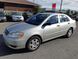 Used 2004 Toyota Corolla AUTOMATIC, A/C, POWER GROUP, ONLY 104 KM for sale in Ottawa, ON
