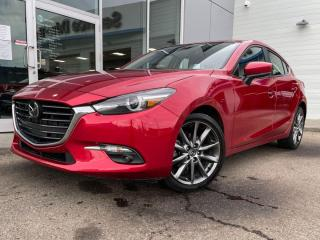 Used 2018 Mazda MAZDA3 Sport GT- LEATHER, SUNROOF, BOSE, MANUAL! GREAT VALUE for sale in Edmonton, AB