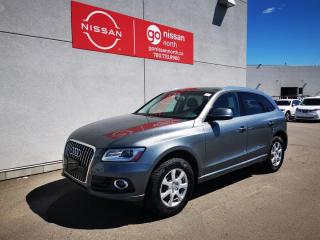 Used 2015 Audi Q5 2.0T Technik / Used Audi Dealership / Leather / Roof / Loaded / No Reported Accidents for sale in Edmonton, AB