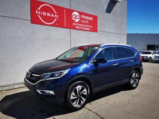 Used 2015 Honda CR-V Touring / Used Honda Dealership / Leather / Roof / One Owner / No Reported Accidents for sale in Edmonton, AB