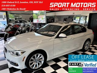 Used 2017 BMW 3 Series 320i xDrive+Camera+GPS+Sensors+Roof+ACCIDENT FREE for sale in London, ON
