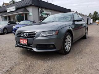 Used 2012 Audi A4 2.0T Sedan quattro Tiptronic for sale in Bloomingdale, ON