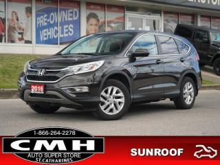 Used 2016 Honda CR-V EX  CAM ROOF P/SEAT HTD-SEATS 17-AL for sale in St. Catharines, ON