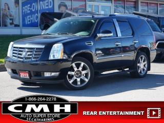 Used 2012 Cadillac Escalade Premium  NAV ROOF LEATH HTD-S/W 22-AL for sale in St. Catharines, ON