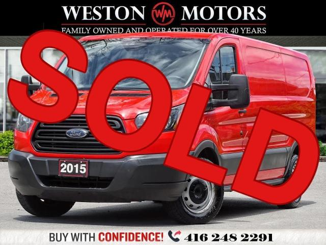 2015 Ford Transit 150 *3.7L*LEATHER*LOW ROOF*SHELVING*REV CAM*