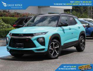 New 2021 Chevrolet TrailBlazer RS Wireless Apple CarPlay & Android Auto for sale in Coquitlam, BC