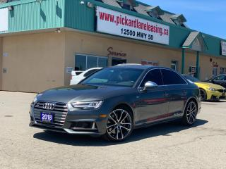 Used 2018 Audi S4 3.0T Technik RED INTERIOR! | TECHNIK! | 1 OWNER! | ACCIDENT FREE! | ONTARIO VEHICLE! for sale in Bolton, ON