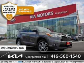 Used 2016 Toyota Highlander HYBRID XLE | 1 OWNR | CLN CRFX | 8 PASS | NAV | SUNROOF for sale in Georgetown, ON