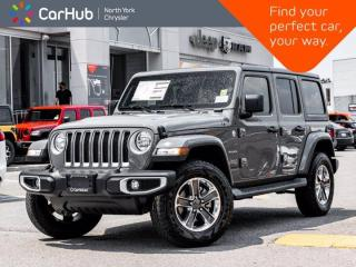 New 2021 Jeep Wrangler Unlimited Sahara 4x4 Cold Weather Grp Proximity Key 2.0L Turbo for sale in Thornhill, ON
