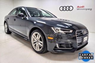 Used 2018 Audi A4 Sedan Technik w/Head Up Display & Advanced Driver Assist *LOCAL* for sale in Winnipeg, MB