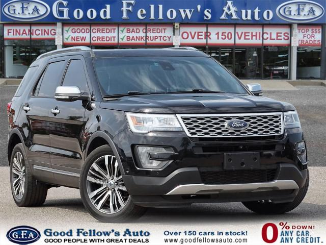 2017 Ford Explorer PLATINUM 4WD, 6CYL ECOBOOST, 6 PASS, LEATHER SEATS
